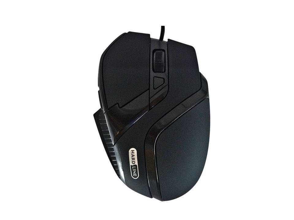 MOUSE GAMING HARDLINE MS26 USB PRETO RUBBER - PADRAO