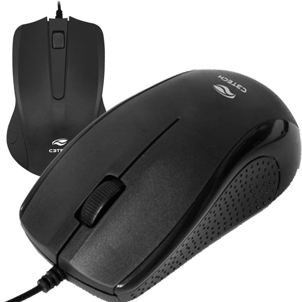 MOUSE OPTICO PRETO MS-20BK USB C3 TECH