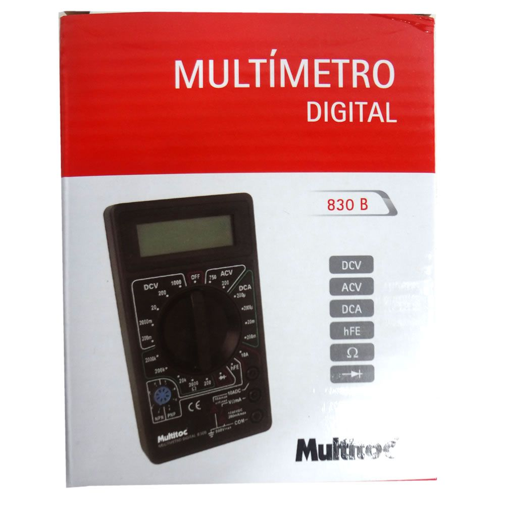 MULTIMETRO DT-830B MULTITOC