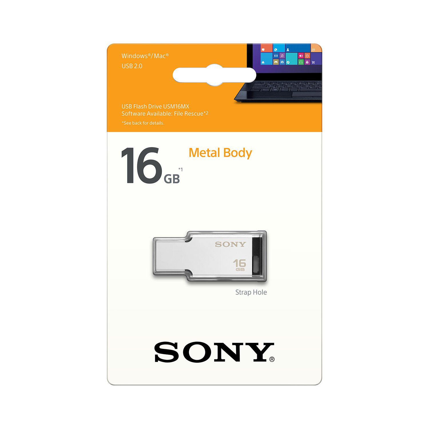 PEN DRIVE 16 GB METALICO USB 2.0 USM16MX/S SONY