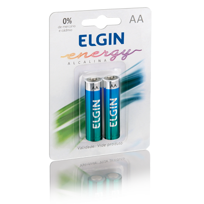 PILHA ALCALINA AA LR6 1.5V BLISTER C/2 ELGIN