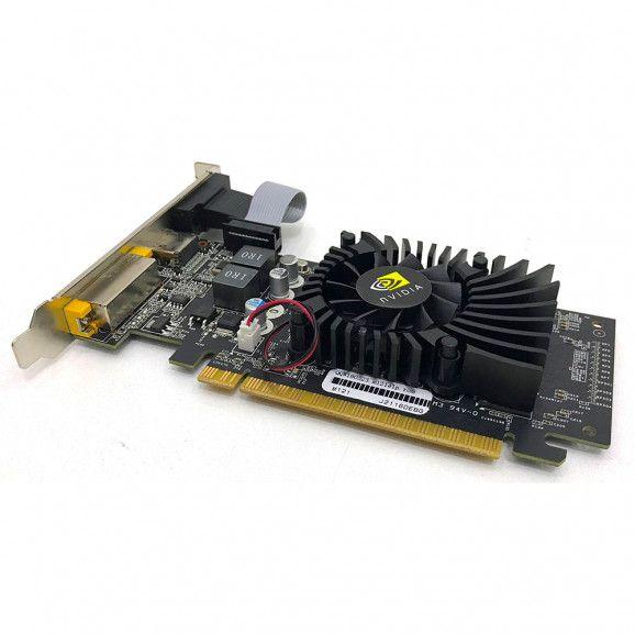 PLACA DE VIDEO PCI NVIDIA GEFORCE 520 MHZ 64BIT HDMI VGA DVI - DEX - GT-210 - PV-02