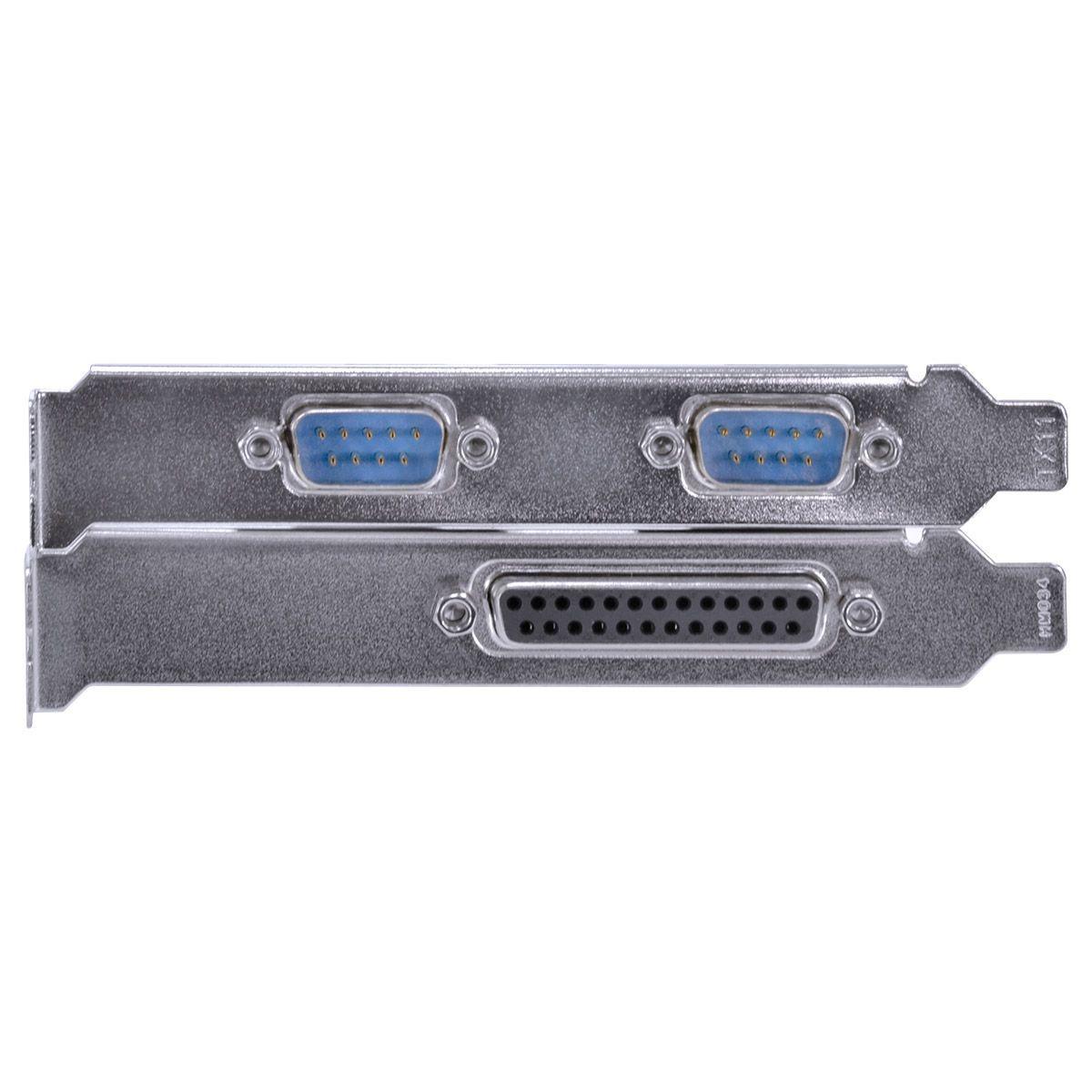 PLACA SERIAL COM 2 SAÍDAS RS232 RS485 RS422 + 1 SAÍDA PARALELA IEEE1284 PCI X1 - P2IE1PR-PCI vinik