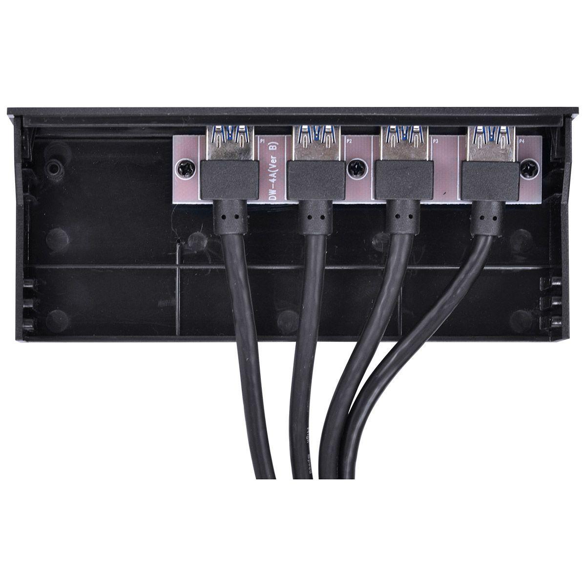 """PLACA USB PARA BAIA 5.25"""" COM 4 USB 3.0 + CABOS - P4U-525 vinik"""