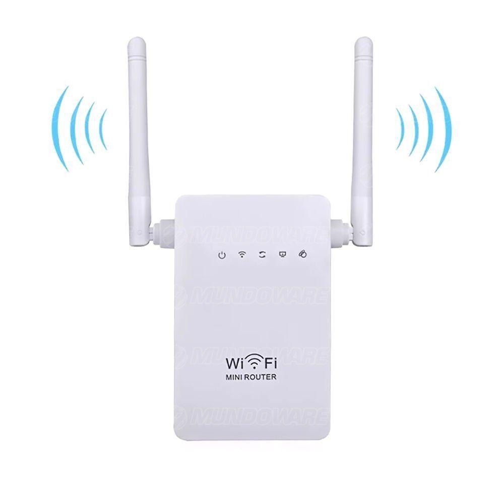 Repetidor de Sinal Wireless com 2 Antenas Externas 300Mbps WiFi Branco Pix-Link WR13