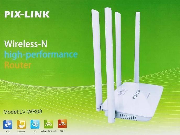 Roteador Wireless Pix-link Lv-wr08 300mbps 4 Antenas Dual
