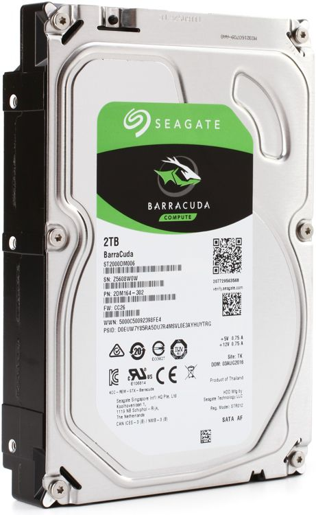 "Seagate Barracuda 2TB 7200 RPM 64MB Cache SATA 6.0Gb/s 3.5"" (ST2000DM006)"