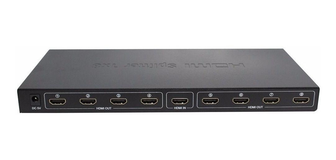 SPLITTER HDMI DIVISOR 1 ENTRADA X 8 SAIDAS V1.4 3D 1080P 01578