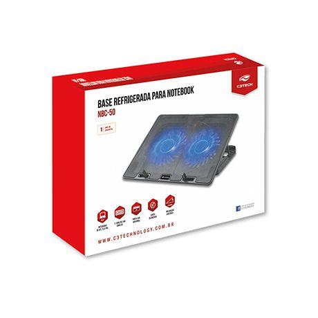 Suporte Base Refrigerada Para Notebook C3TECH 15,6 NBC50BK
