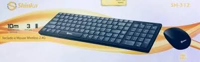TECLADO E MOUSE USB SEM FIO KIT SHINKA SH-312