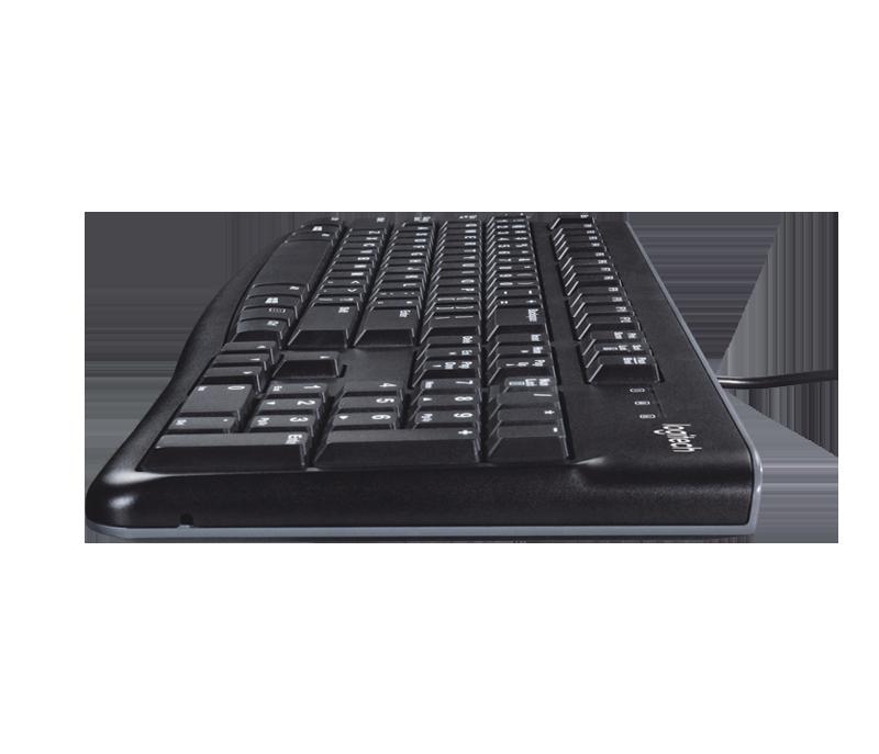 Teclado Logitech K120 Básico USB Preto (Ideal para Empresas, longa durabilidade) (920-002481)