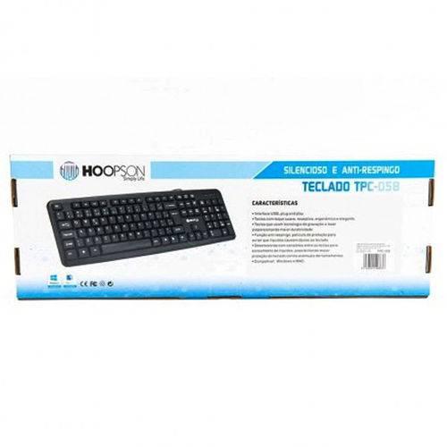 Teclado USB Hoopson TPC-058
