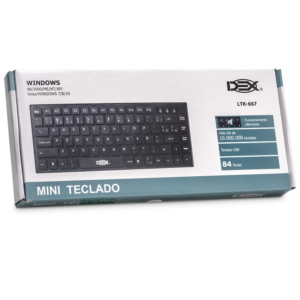 TECLADO USB MINI SLIM TIPO CHOCOLATE DEX LTK-667 (LTK-667)