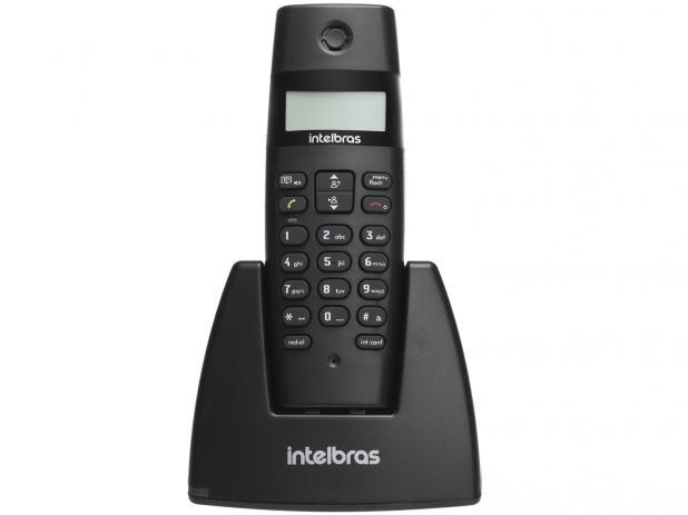 Telefone Sem Fio Intelbras TS40 ID - Identificador de Chamada Preto