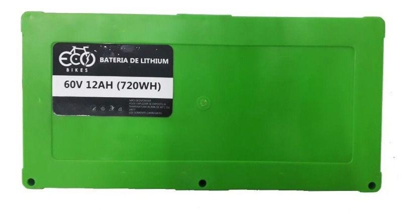 Bateria De Lítio 60v 720wh Scooters Eletricas Com Carregador