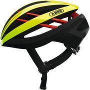 Capacete Ciclismo Abus Aventor Amarelo Fluor/Preto TAM. P 51-55CM