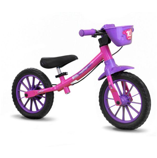 f6cbf0981 Bicicleta Infantil Balance Nathor Feminina - Della Bikes