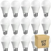 50 Lampadas Led Bulbo - AUTODIMERIZÁVEL 12w - Luz branca quente 3000k
