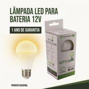 Lâmpada Led Bulbo 12V ou 24V 9W - Luz amarela Energia Solar,barco,Pesca