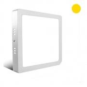 Luminária painel plafon LED 12w Quadrado De Sobrepor Teto - Luz Branca quente