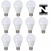 Oferta ! 10 Lâmpadas Led Bulbo Autodimerizavel  12w Luz quente 3500k