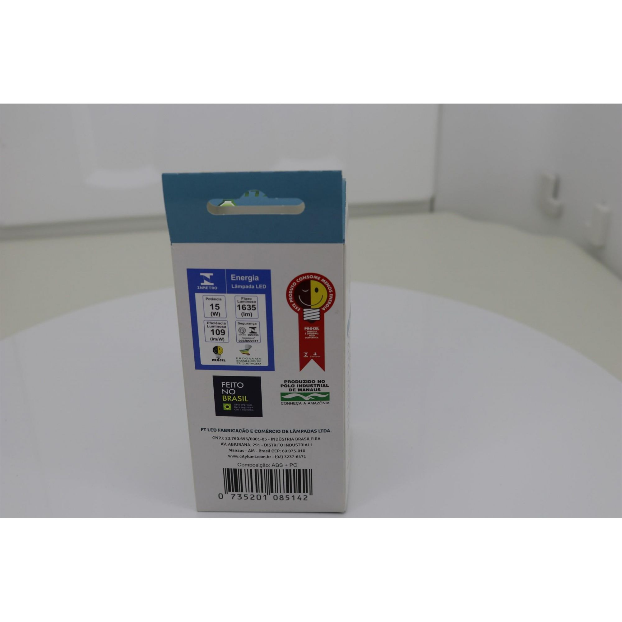 Kit 10 Lâmpada Bulbo Led 15w Soquete E27 Bivolt Branco Frio com 1635 Lúmens  ( Alta potencia)