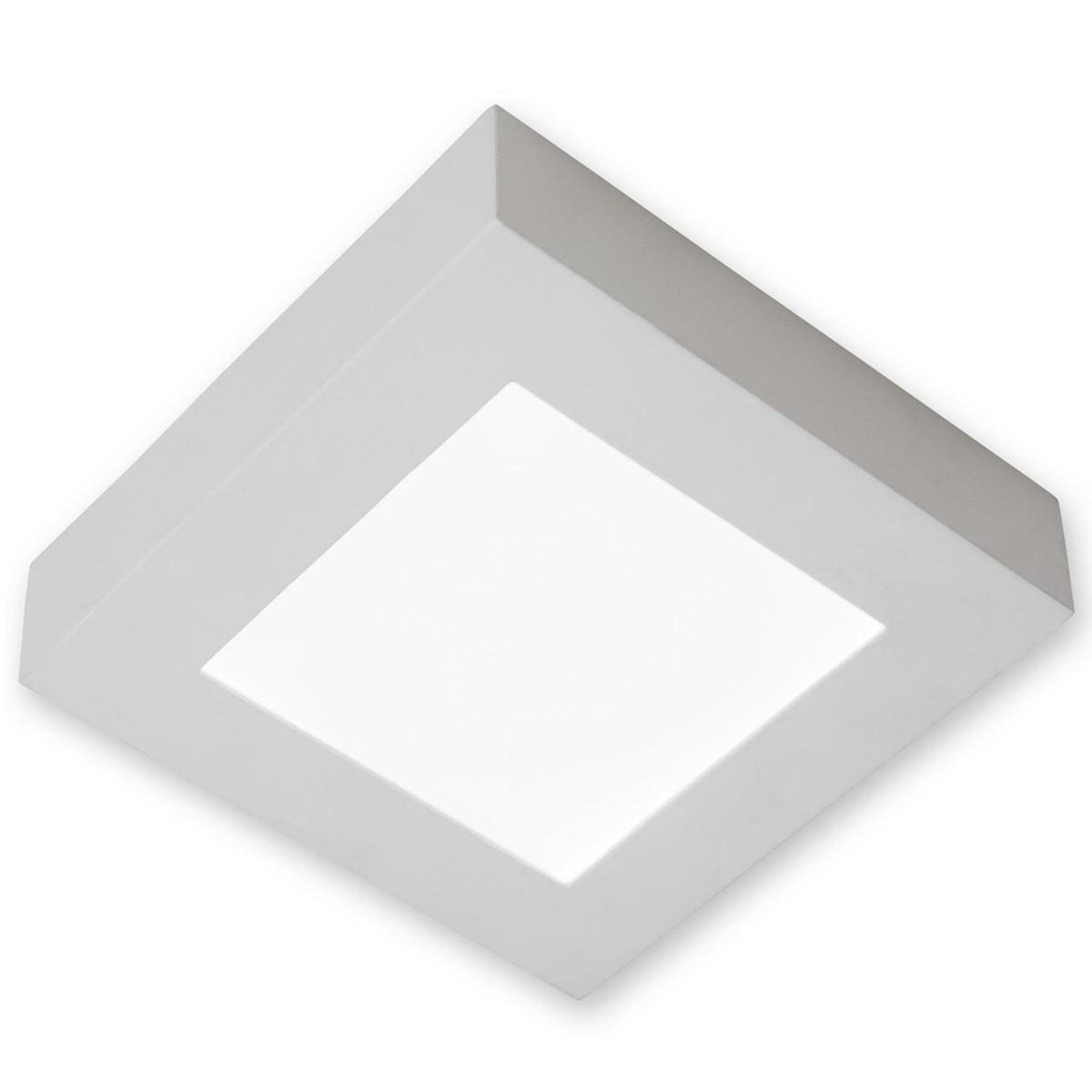 Kit 10 Luminárias plafon LED 12w Quadrado De Sobrepor Teto - Luz Branca Neutra