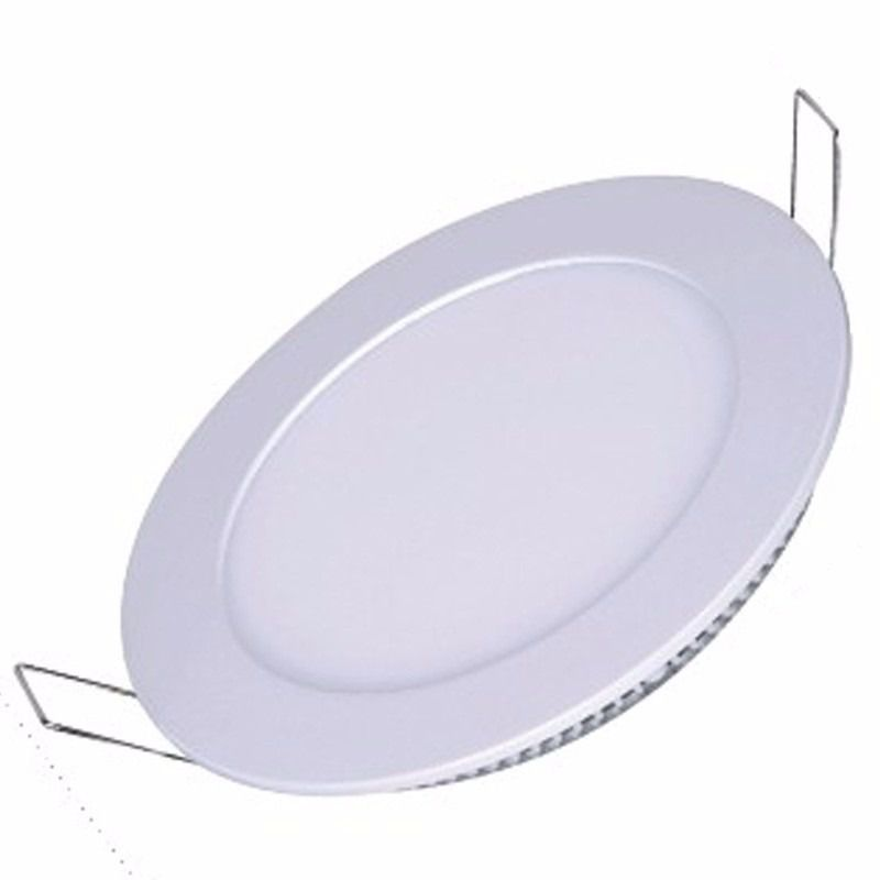 Kit 10 Painel Plafon 12w Led Redondo Embutir Branco Frio