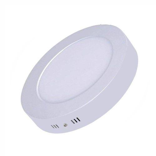 Kit 10 Painel Plafon LED  Redondo Sobrepor 18w - Luz Branca fria