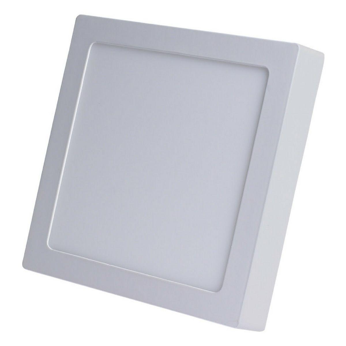 Kit 10 Painel Plafon Led Sobrepor Quadrado 24w - Luz Branca
