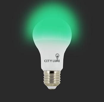 Lâmpada Led Bulbo - Autodimerizavel 9w E27 - Luz Verde