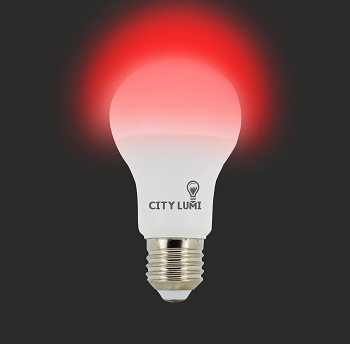 Lâmpada Led Bulbo - Autodimerizavel 9w E27 - Luz Vermelha