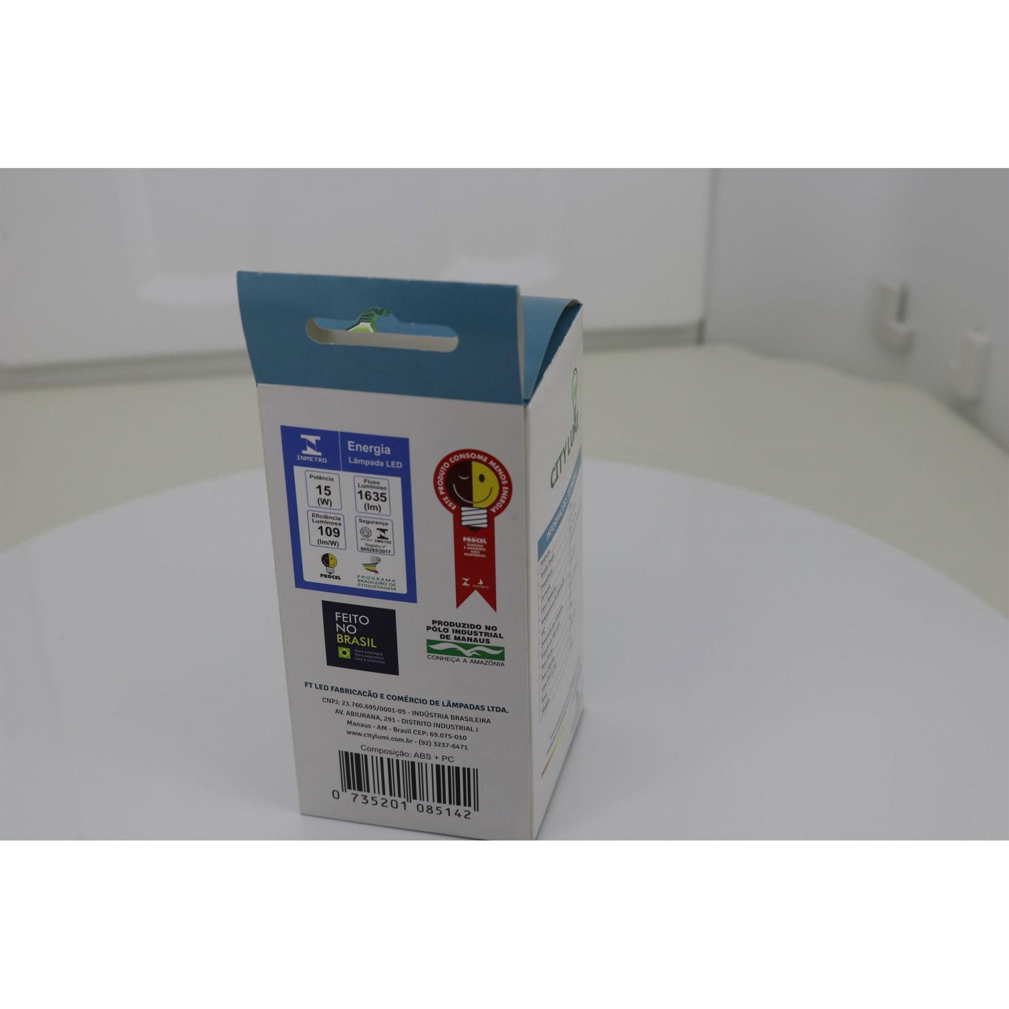 Lâmpada Bulbo Led 15w Soquete E27 Bivolt Branco Frio com 1635 Lúmens ( Alta potencia)