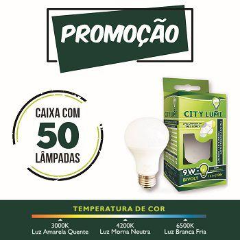 50 Lâmpada LED Bulbo 9W  - 6500K/3500K/4500K  ( 1 lâmpada com 3 cores )