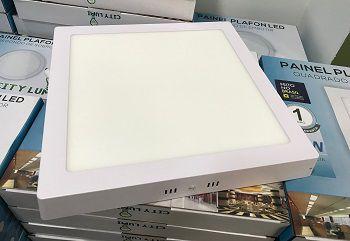 Luminária Painel Plafon Led Quadrado Sobrepor 24W Bivolt