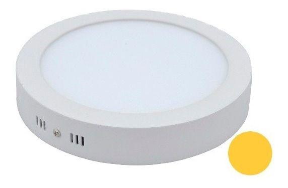 Luminária Painel Plafon Led Redondo Sobrepor 24W 3000k