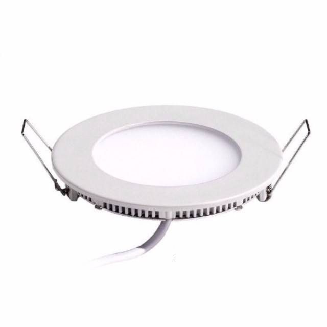 Painel Plafon 3w Luminária Led Embutir Redondo Spot - 3500k Luz Amarela