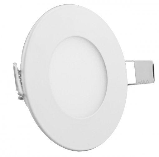 Painel Plafon 3w Luminária Led Embutir Redondo Spot - 4500k luz Neutra