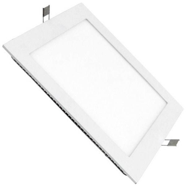 Kit 10 Luminárias  Quadrado Embutir Slim Led 24w Bivolt - 4000k Luz Neutra