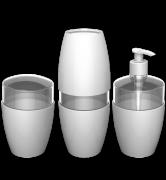 Kit para banheiro 3 peças Durin