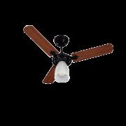 Ventilador Tron 1 lampada marbela preto 127V