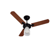 Ventilador Tron 1 lampada marbela preto