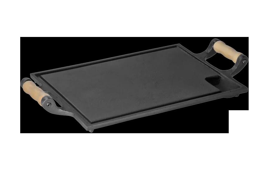 Chapa 25x35cm alça de madeira ferro