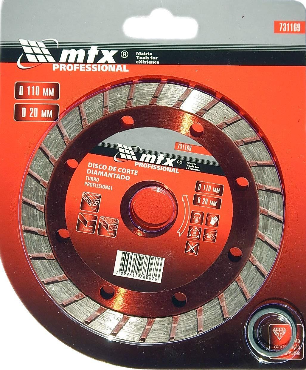 Disco De Corte Diamantado Turbo 110 X 2,0 X 20,0 Mm Mtx