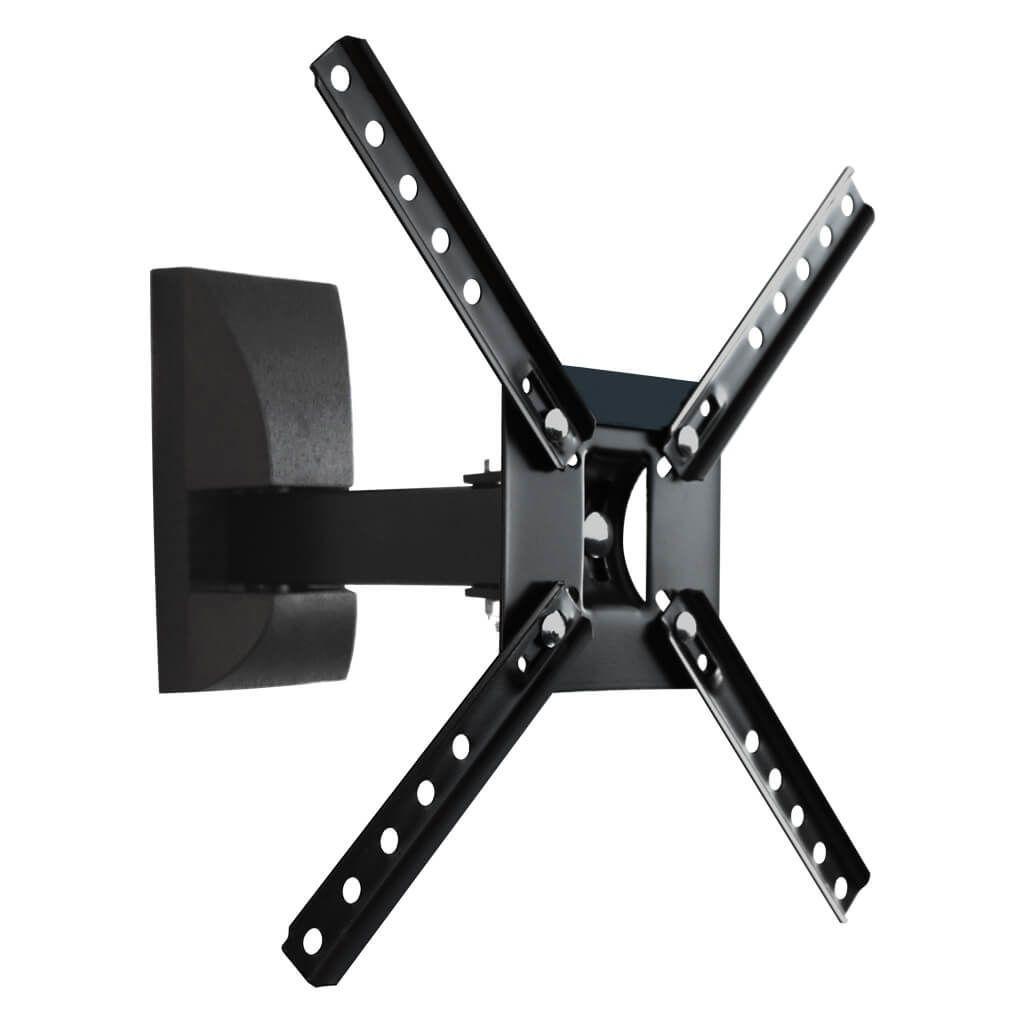 """Suporte Parede Articulado p/ TV LED, LCD, Plasma, 3D e Smart TV 10"""" a 55"""" SBPR 130 - Preto - Brasforma"""