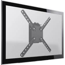 """Suporte Parede Inclinável p/ TV LED, LCD, Plasma, 3D e Smart TV 10"""" a 55"""" SBPR 110 - Preto - Brasforma"""
