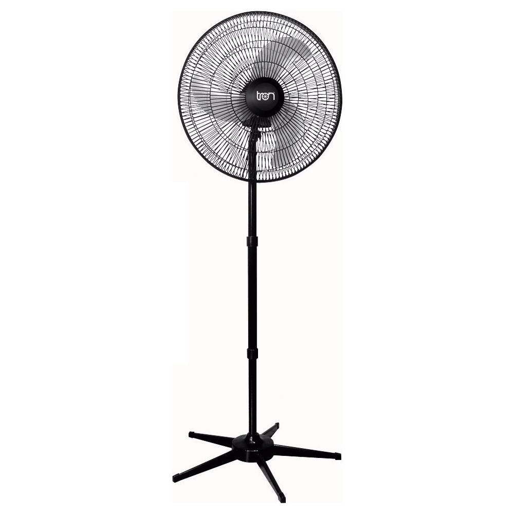 Ventilador Tron oscilante pedestal preto 60cm 200W