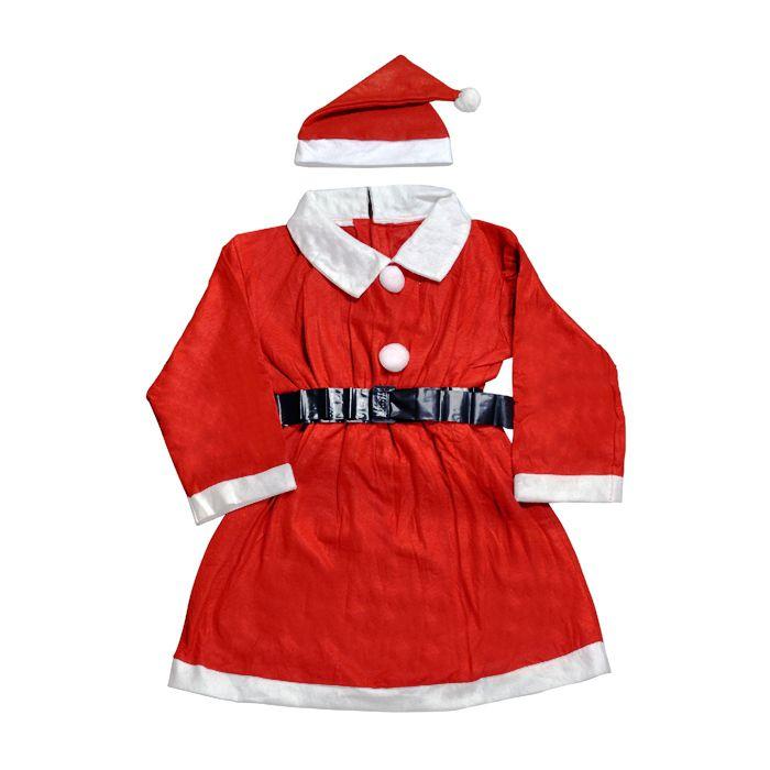 b50d11a85 Roupa Infantil Mamãe Noel Para Crianças de 09 a 10 Anos Vestido Natalino