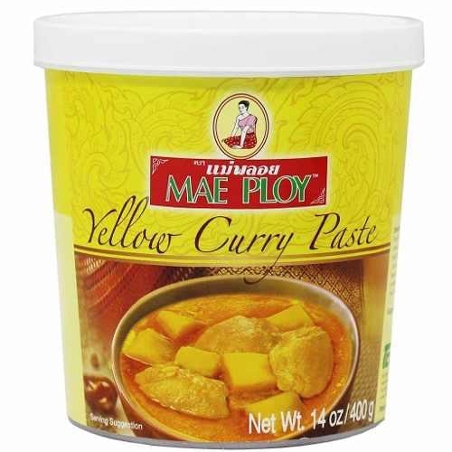 Pasta De Curry Amarela Mae Ploy Tailandia - 400g Th