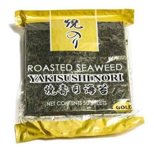 Alga Sushi Nori Gw Gold Temaki Platinum Ziplock 50 Folhas